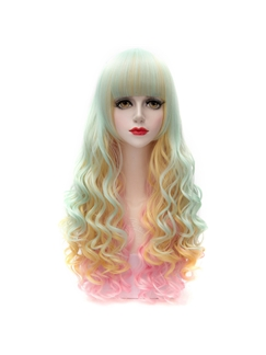 Hot Long Colored Wave Lolita Wig 28 Inches