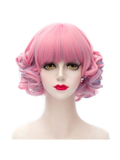 Pink Mixed with Purple Doll Lolita Bobo Wig