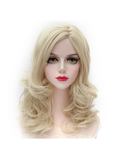 Noble Medium Wave Blonde Cosplay Wigs 16 Inches