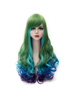 Fairy Long Green Mixed with Blue ande Purple Lolita Wig