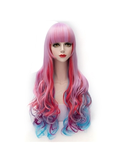 Pink Mixed with Red Blue Purple Lolita Wig