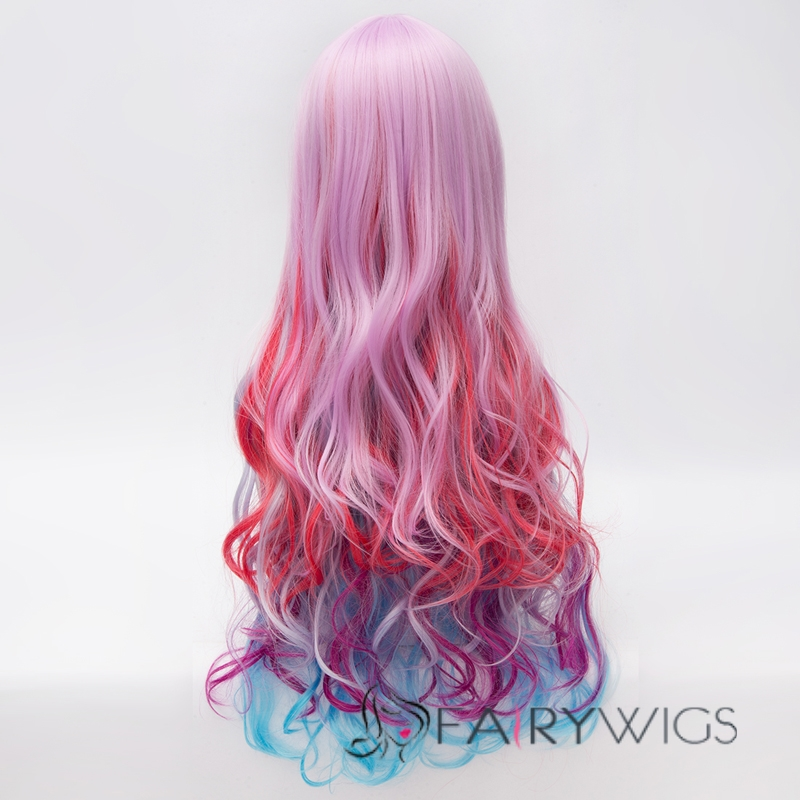 Pink Purple And Blue Wig 95
