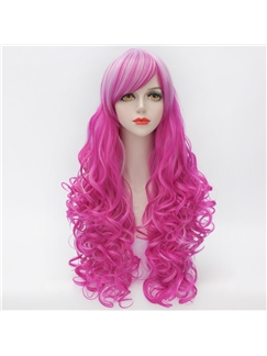 Hot Pink Long Curly Lolita Wig 28 Inches