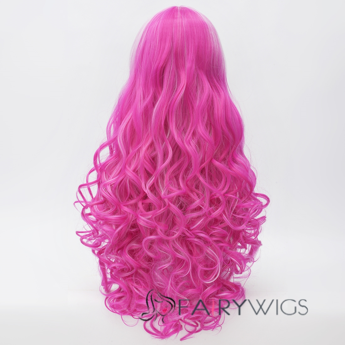 Hot Pink Long Hair Wigs 29
