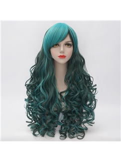 Japanese Lolita Style Deep Green Cosplay Wigs 28 Inches
