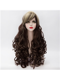 Chocolate Long Curly Lolita Wig 28 Inch