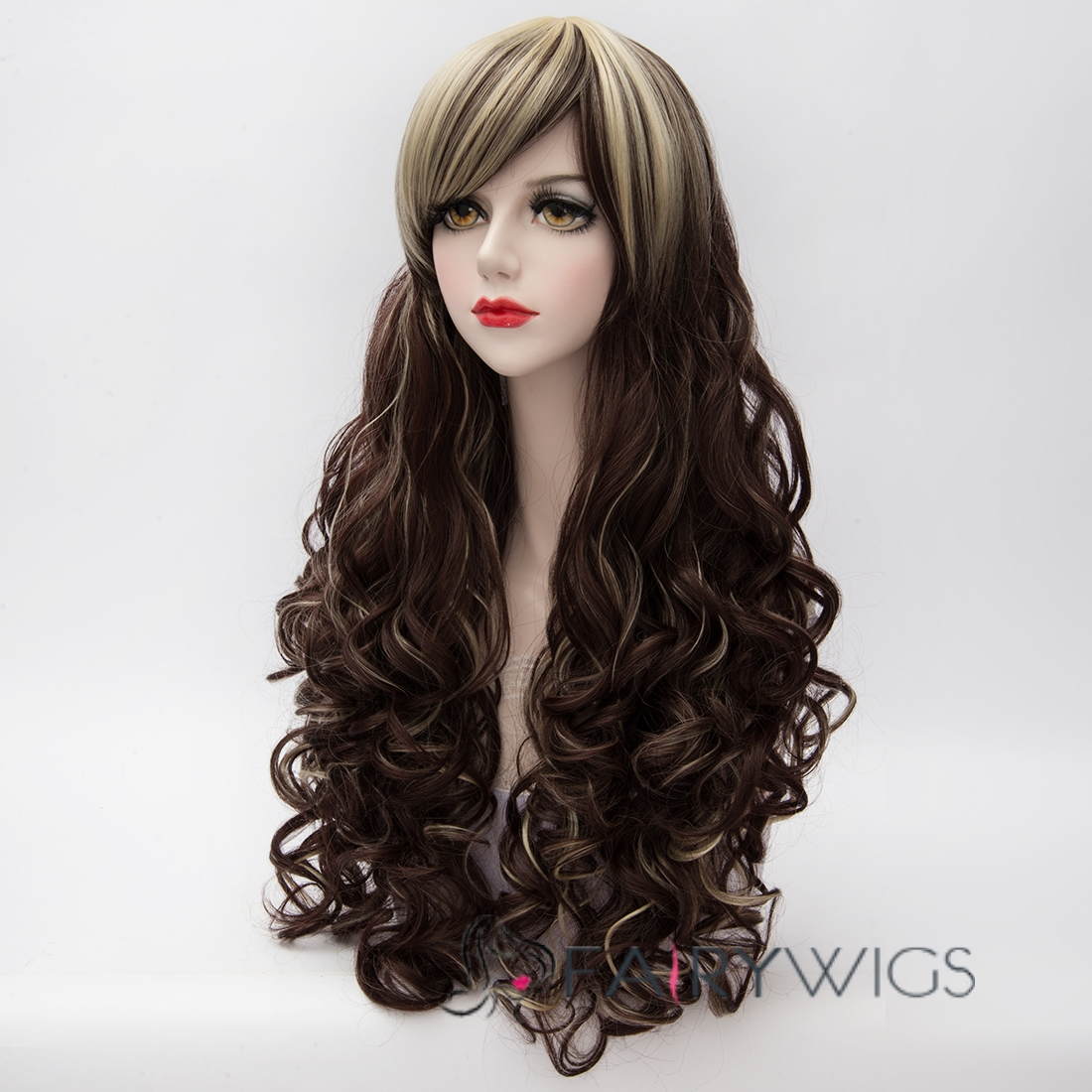 Chocolate Long Curly Lolita Wig 28 Inch Fairywigs Com