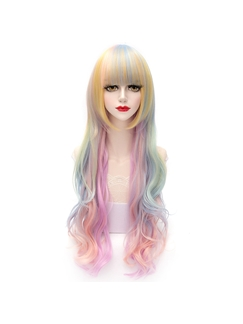 Sweet Long Wave Ice-cream Color Lolita Wig