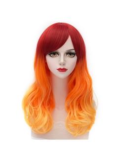 New Arrival Medium Wave Gradient Orange Lolita Wig