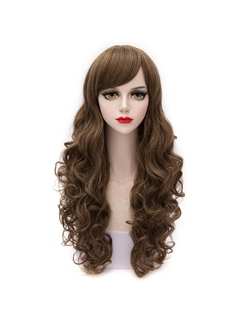 Long Curly Versatile Brown Cosplay Wig 26 Inches