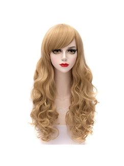 Elegant Long Curly Synthetic Hair Cosplay Wigs 26 Inches