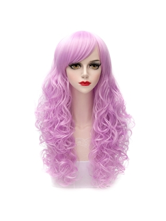 Lilac Long Curly Synthetic Cosplay Wig 26 Inches
