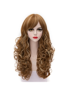 Charming Long Light Brown with Blonde Lolita Wig
