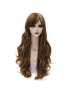 Pretty Dark Brown with Blonde Long Wave Lolita Wig