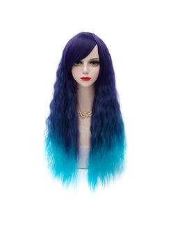 Fashion Lolita Style Ombre Blue Wigs 30 Inches