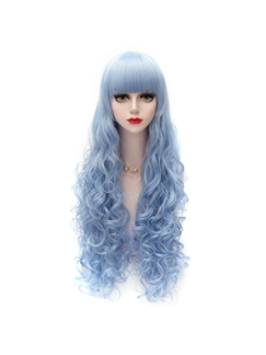 Japanese Lolita Style Ice Blue Cosplay Wigs 32 Inches
