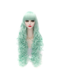 Long Ice Green Lolita Wigs 32 Inches