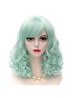 Lovely Lolita Medium Wave Green Cosplay Wig