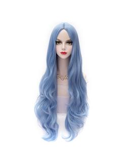 Japanese Lolita Style Long Blue Wave Wig
