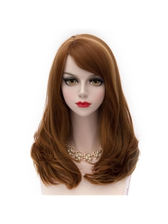 Medium Wave Bown Mixed with Blone Cosplay Wig 20 Inches