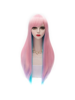 Nice Straight Gradient Pink Wig 24 Inches