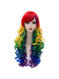 Colorfull Long Layered Straight Lolita Wig 28 Inches