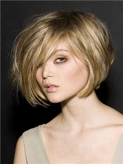 The Trendsetting Fluffy Short Straight 10 Inches Full Lace Wig Cater For Your Pursue