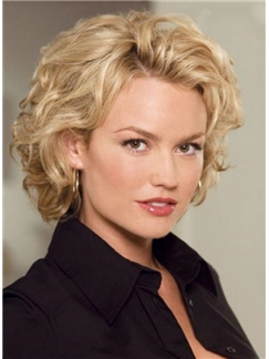 Pretty Personality Short Curly Full Lace Wig 100% Human Hair