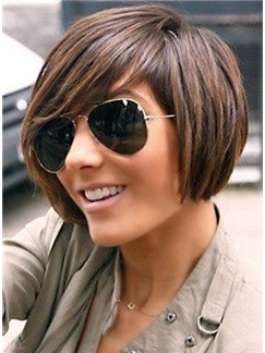 Amazing Short Bob Human Hair Wig Mixed Color for Black Women