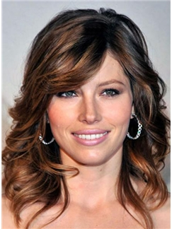 Most Attractive Medium Wavy 14 Inches Brown Human Remy Hair Best Quality