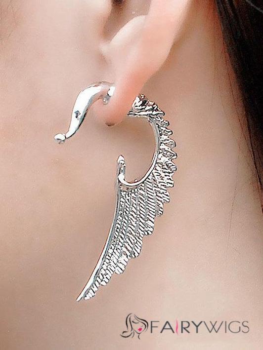 Fashionable Angel Wings Shaped Alloy Earrings