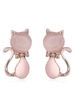 Nice Opals Kitty Stud Earrings
