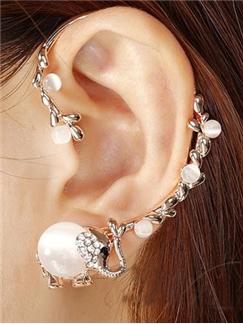 Cute Opal Little Elephant Ear Cuff for Women