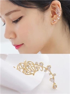 Butterfly Shape Rhinestone Ear Cuff
