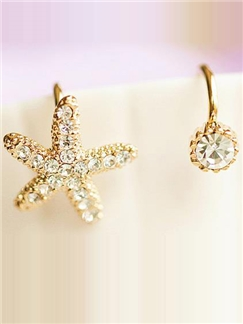 Starfish Rhinestone Women Ear Cuff