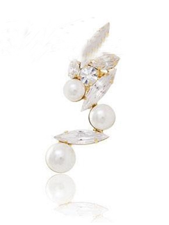 Shining Pearl Women Ear Cuff  Price for One
