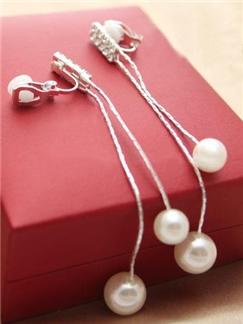 New Arrival Elegant Long Rhinestone Tassel Earrings