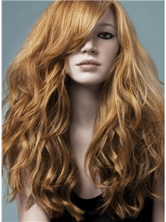 Long and Curly 100% Indian Hair 24 Inches Front Lace Wig 150% Heavy Hair Density