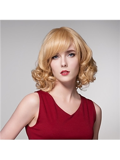 2016 Woman's Shaggy Wave Human Virgin Remy Hand Tied-Top Charming Capless Hair Wig