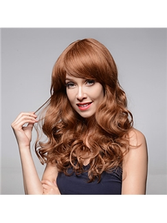 Gorgeous Bouffant Wavy Remy Human Hair Hand Tied -Top Emmor Woman's Wig