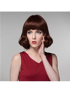 Nice Woman's Human Virgin Remy Hand Tied-Top Capless Hair Wig
