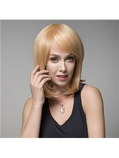 Woman's Medium Remy Human Hair Hand Tied -Top Elegant Emmor Wigs