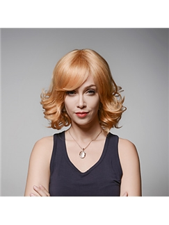 Nice Woman's Popular Fluffy Wavy Virgin Remy Human Hair Hand Tied -Top Emmor Wigs