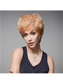 Trend Short Wavy Remy Human Hair Hand Tied -Top Emmor Wigs