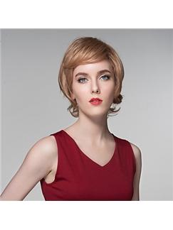 Fashion Human Virgin Remy Hand Tied-Top Capless Wavy Hair Wigs