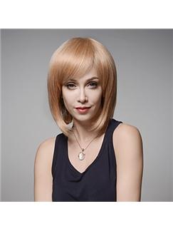 Smart Cute Bob Hairstyle Virgin Remy Human Hair Hand Tied -Top Emmor Wigs