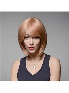 Gorgeous Short Capless Bob Style Remy Human Hair Hand Tied -Top Emmor Wigs